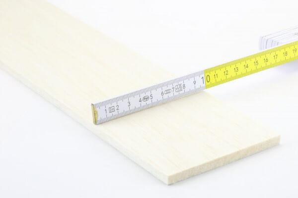 8,0 mm Balsa Brettchen einzeln · 1000 mm x 100 mm