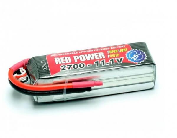 Red Power SLP 2700 mAh 3S Lipo (11,1V) 25 C · Pichler