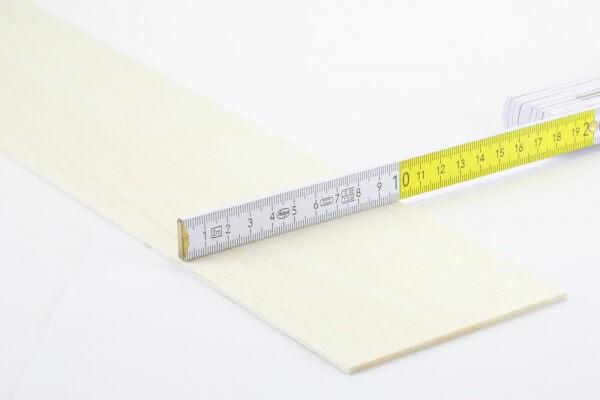 3,0 mm Balsa Brettchen einzeln · 1000 mm x 100 mm