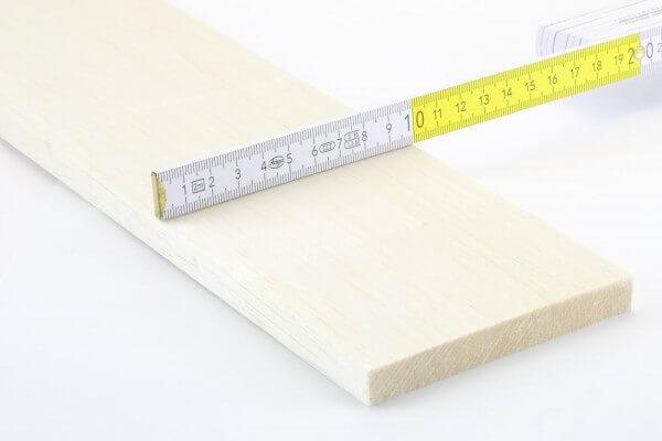 12,0 mm Balsa Brettchen einzeln · 1000 mm x 100 mm