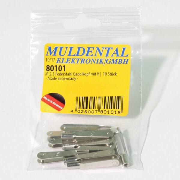 Federstahl Gabelkopf M 2,5 · V · 10 Stück