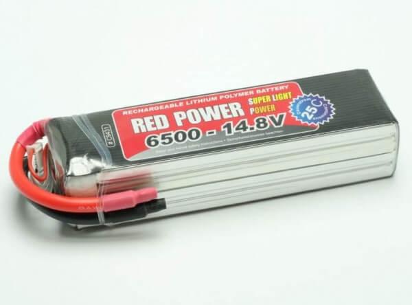 Red Power SLP 6500 mAh 4S Lipo (14,8V) 25 C  · Pichler