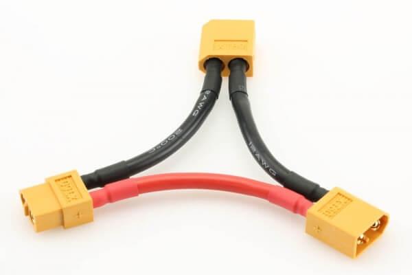 Adapterkabel seriell 2 x XT60-Stecker + 1 x XT60-Buchse · Pichler