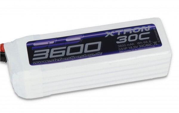 SLS Xtron 3600 mAh 5S Lipo (18,5V) 30/60 C · XT90