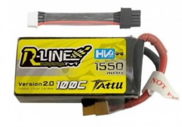 Tattu R-Line · 1550 mAh 4S HV-Lipo (15,2V) 100 C · XT60  · Balancerkabel abnehmbar