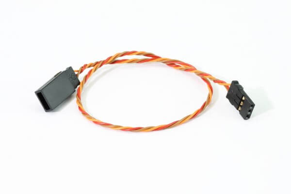 25 cm Verlängerungskabel JR Uni 3 x 0,08 mm² verdrillt · PVC · Muldental