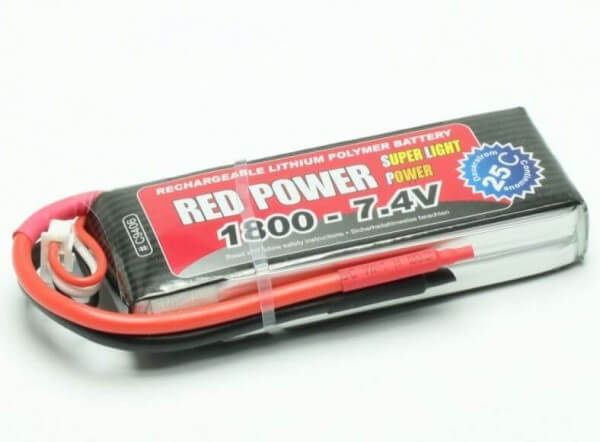Red Power SLP 1800 mAh 2S Lipo (7,4V) 25 C · Pichler