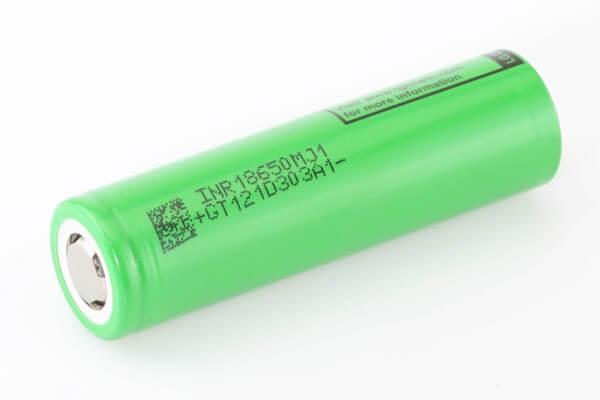 LG INR 18650 MJ1 · 3500 mAh  ·  3,7 V  bis 10 A