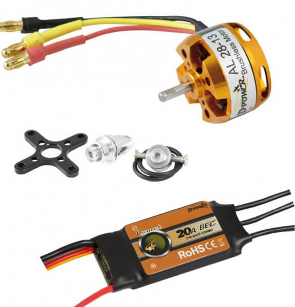 Brushless Set AL 28-13 + 20 A Comet Regler · D-Power
