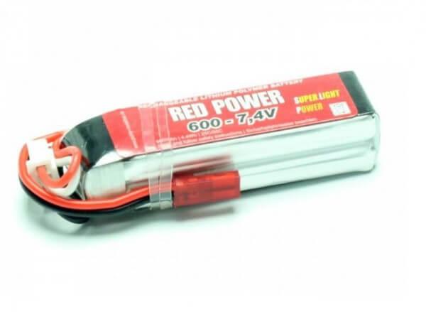Red Power SLP 600 mAh 2S Lipo (7,4V) 25 C · Pichler