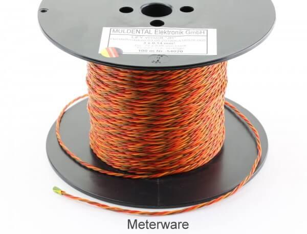 PVC-Servolitze 3 x 0,14 mm² verdrillt hochflexibel  · Meterware