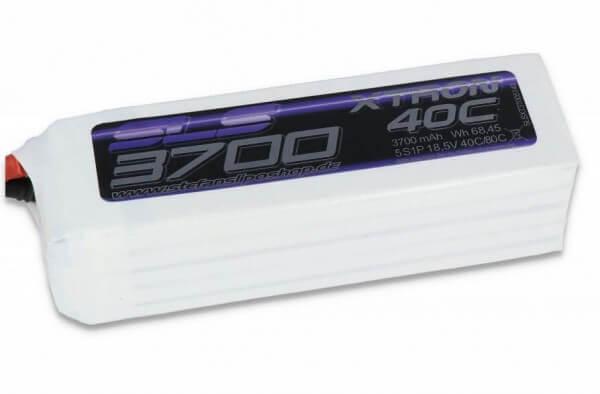 SLS Xtron 3700 mAh 5S Lipo (18,5V) 40/80 C · XT90