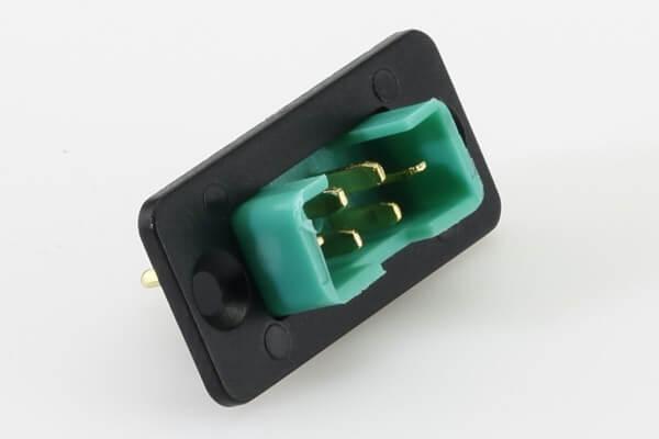 Einbaurahmen für 6-polige MPX Stecker · teilversenkt