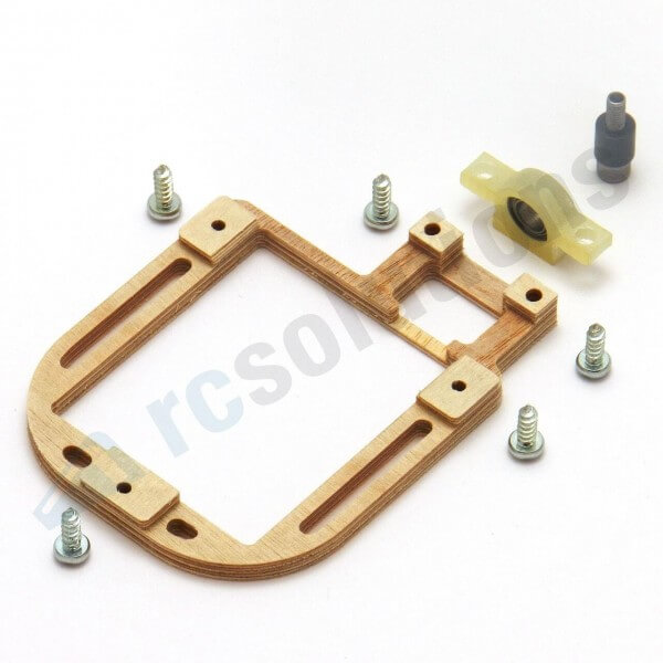 Holz-Servorahmen mit Gegenlager · rechts · für KST X10, X-911 · RCsolutions