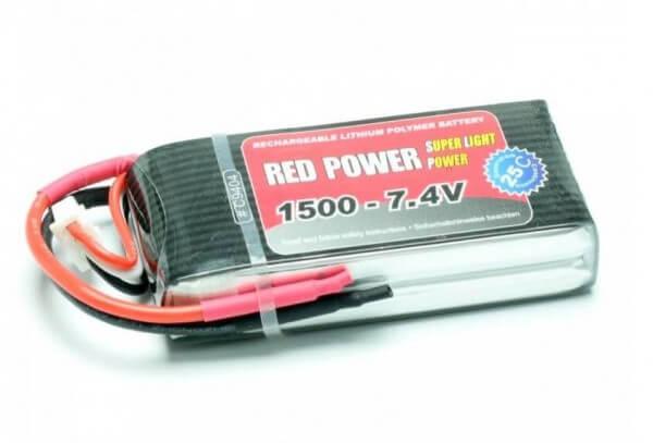 Red Power SLP 1500 mAh 2S Lipo (7,4V) 25 C · Pichler
