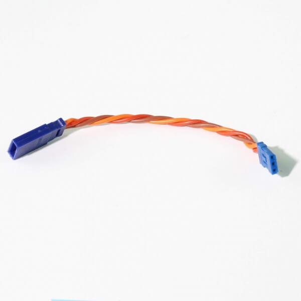 10 cm Verlängerungskabel JR UNI 3 x 0,35 mm² verdrillt Blue-Line Silikon