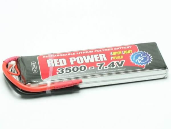 Red Power SLP 3500 mAh 2S Lipo (7,4V) 25 C · Pichler