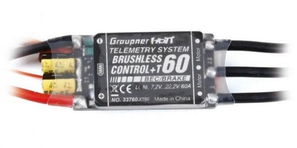 Brushless Control · T60 Telemetrie · 6S ·  60 A · XT60 · Graupner