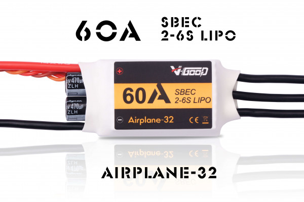 Airplane-32 · 60 A SBEC 5,5 V · Brushless Regler · V-GooD