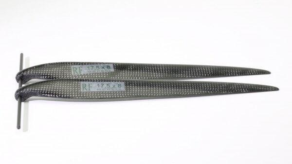 """CFK Klappluftschraube 17,5"""" x 8"""" schmal · 8 mm Hals · RFM Freudenthaler"""