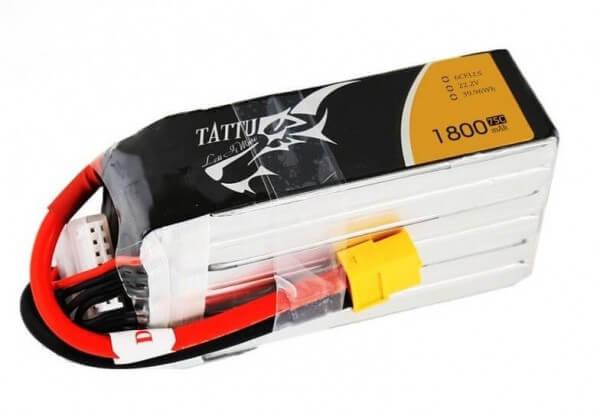 Tattu 1800 mAh 6S Lipo (22,2V) 75 C · XT60
