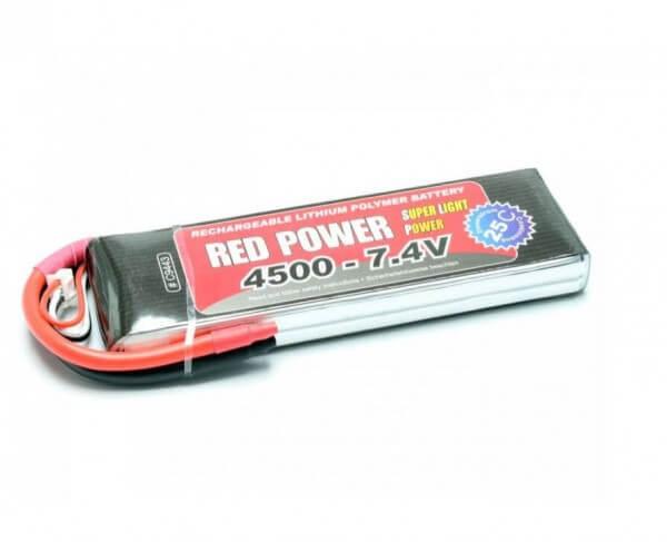 Red Power SLP 4500 mAh 2S Lipo (7,4V) 25 C · Pichler