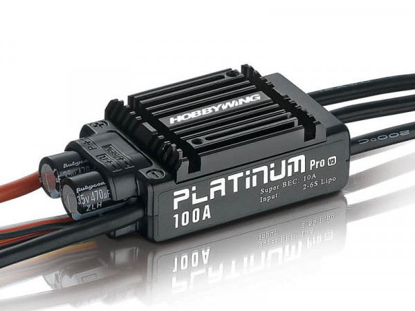 Hobbywing Platinum Pro 100 A V3 Brushless Regler · 10 A SBEC · 2-6 S