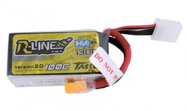 Tattu R-Line · 1300 mAh 4S HV-Lipo (15,2V) 100 C · XT60