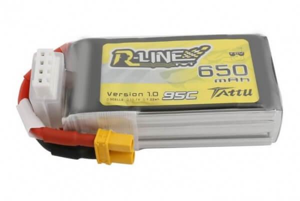 Tattu R-Line 650 mAh 3S Lipo (11,1V) 95 C · XT30