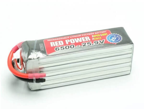Red Power SLP 6500 mAh 7S Lipo (25,9V) 25 C · Pichler