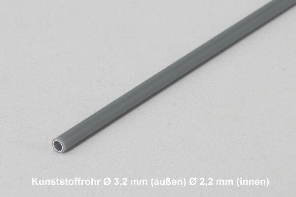 1,0 m Kunststoffrohr mit  Ø 3,2 mm (außen)  Ø 2,2 mm (innen) · Simprop