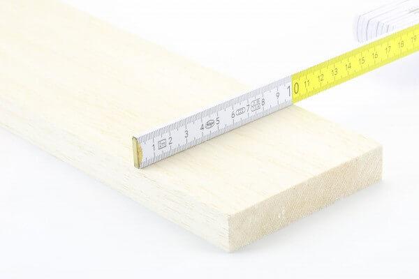 20,0 mm Balsa Brettchen einzeln · 1000 mm x 100 mm
