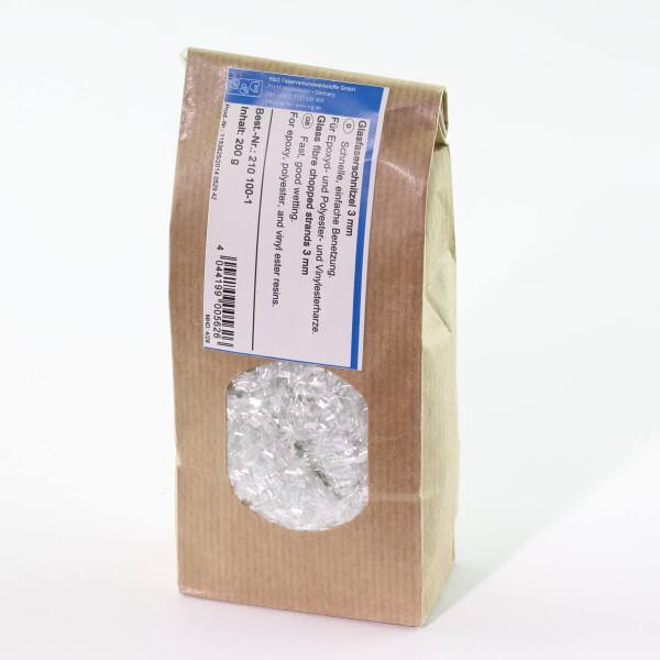200 g Glasfaserschnitzel 3 mm · Verstärkungsfaser · R & G