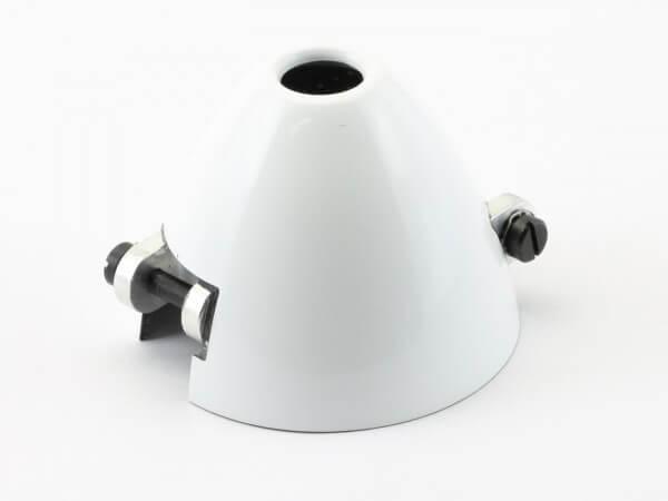Ø 45 mm RFM CFK-Spinner weiß · Bohrung Ø 6 mm · versetzt · mit Kühlloch · 0° verdreht