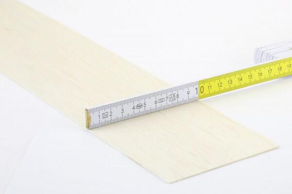 1,0 mm Balsa Brettchen einzeln · 1000 mm x 100 mm