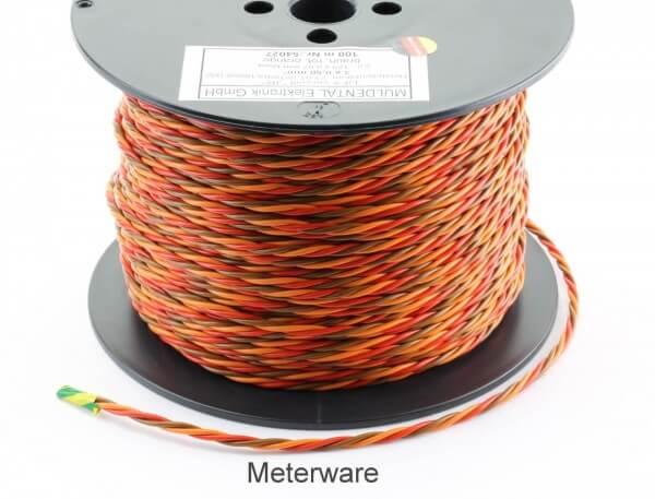 PVC-Servolitze 3 x 0,50 mm² verdrillt hochflexibel · Meterware