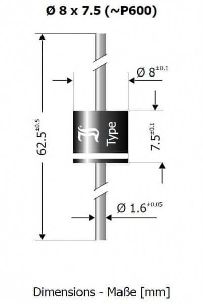 Schottky-Diode SBX 2050 · 20 A · 50 V · Diotec Semiconductor