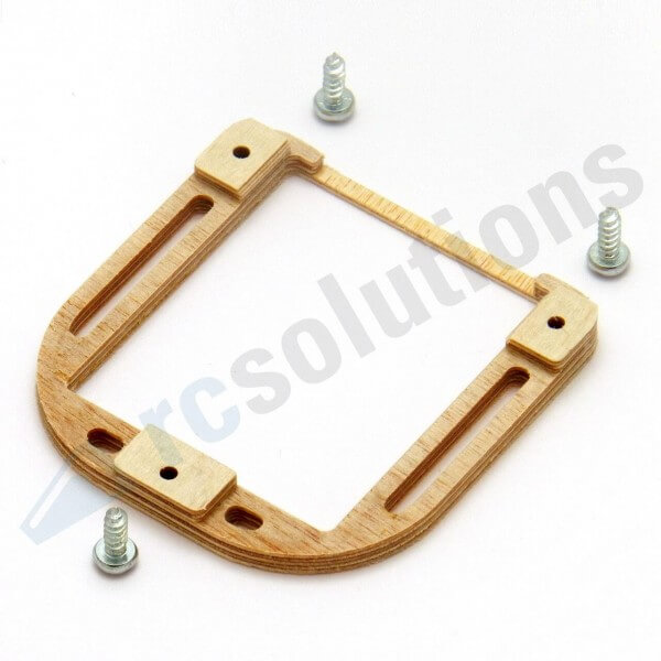Holz-Servorahmen für KST X10, X-911, MKS HBL 6625 · RCsolutions