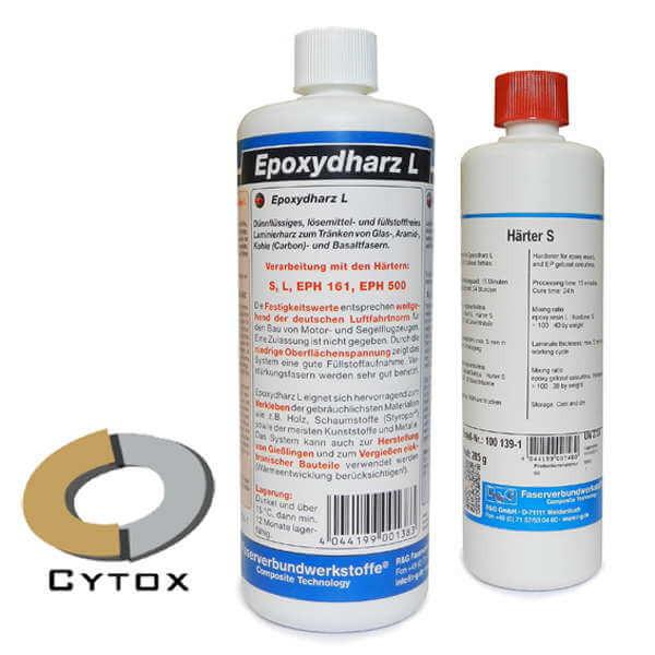 Epoxydharz L + Härter S · 1 kg-Set · R & G Faserverbundwerkstoffe