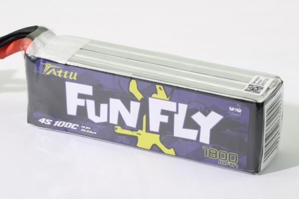 Tattu Funfly 1800 mAh 4S Lipo (14,8V) 100C · XT60