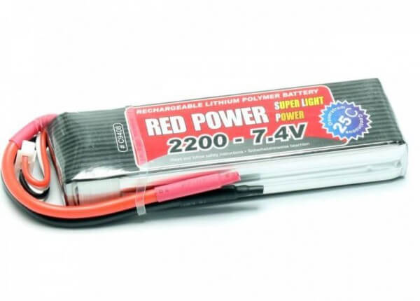 Red Power SLP 2200 mAh 2S Lipo (7,4V) 25 C · Pichler