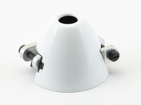Ø 40 mm RFM CFK-Spinner weiß · Bohrung Ø 6 mm · versetzt · mit Kühlloch · 0° verdreht