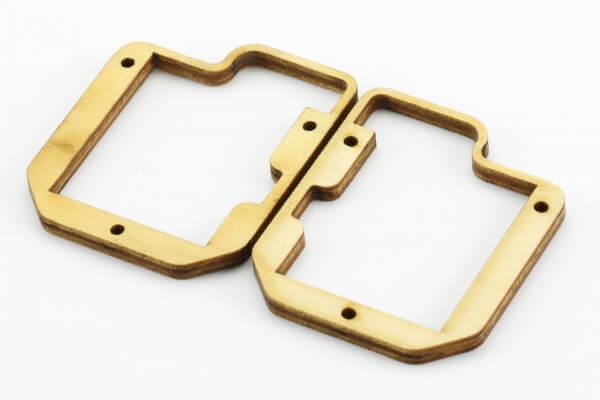 Holz-Servorahmen für MKS HBL 6625, KST X10, DS 125 MG, DS 225 MG