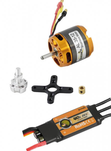 Brushless SET AL 35-12 + 40 A Comet Regler · D-Power