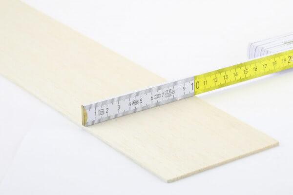 2,5 mm Balsa Brettchen einzeln · 1000 mm x 100 mm