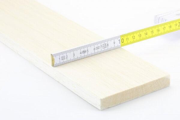 15,0 mm Balsa Brettchen einzeln · 1000 mm x 100 mm